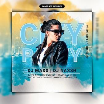 City night club party flyer vorlage