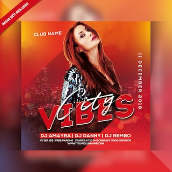 City vibes night party flyer