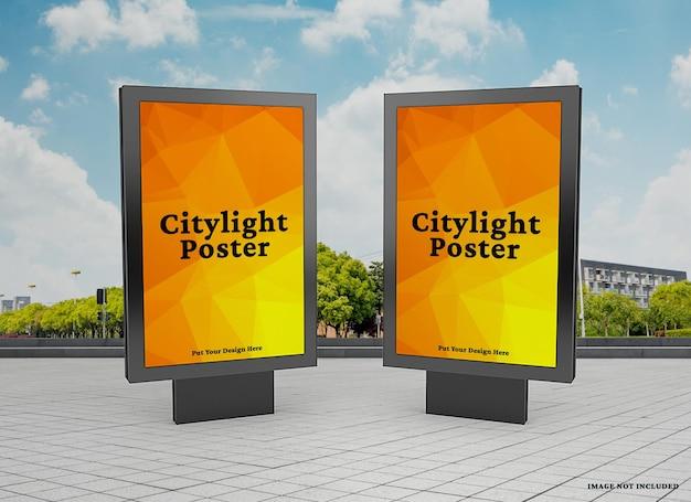 Citylight-poster-modell im freien
