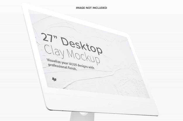 Clay display mockup, nahaufnahme