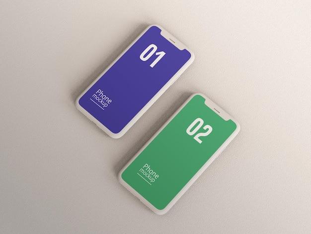 Clay-mockup für smartphones oder multimediageräte