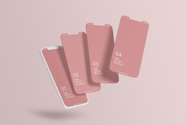 Clay smartphone für apps bildschirmmodell