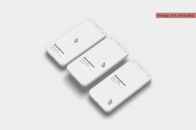 Clay smartphone modell rechte ansicht