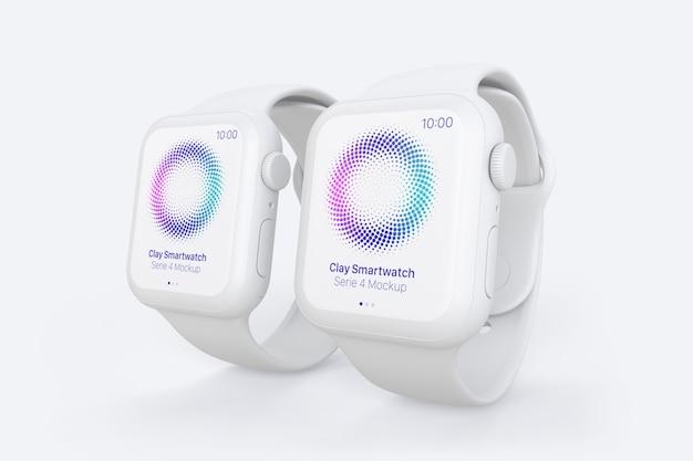 Clay smartwatch mockup