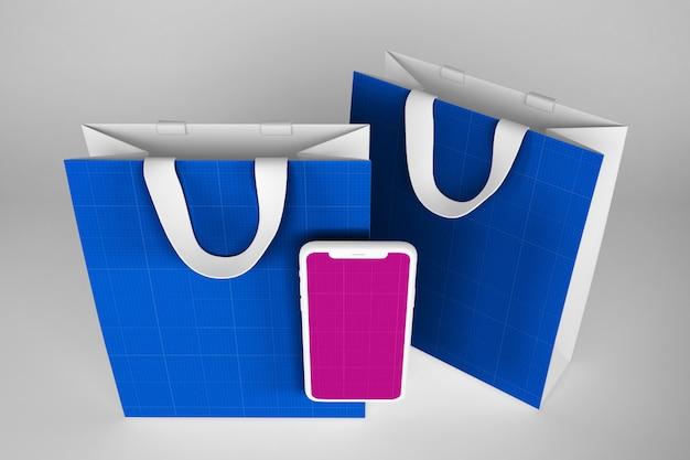 Clean shopping app mockup