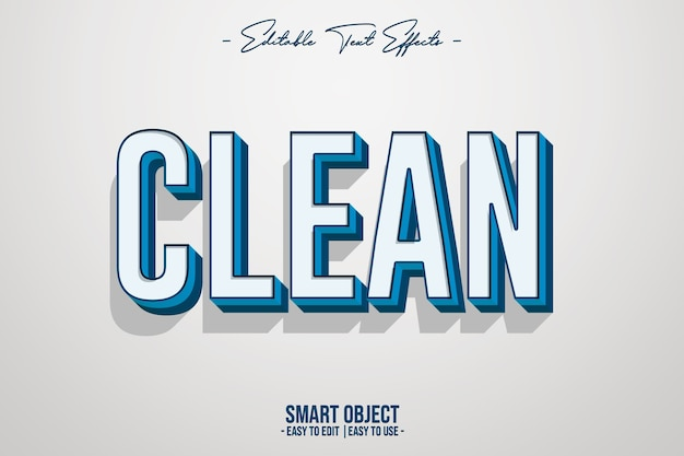 Clean-text-style-effekt