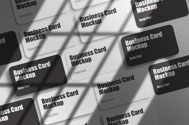 Clean visit card mockup template psd