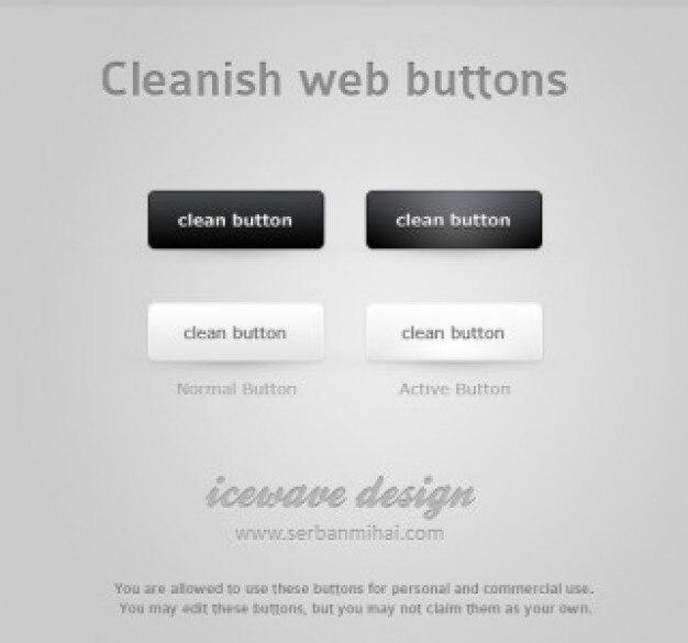 Cleanish web-schaltflächen