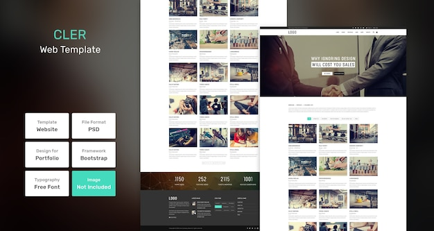 Cler portfolio webvorlage