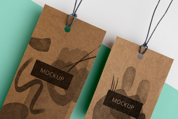 Close up craft hanger tags anordnung