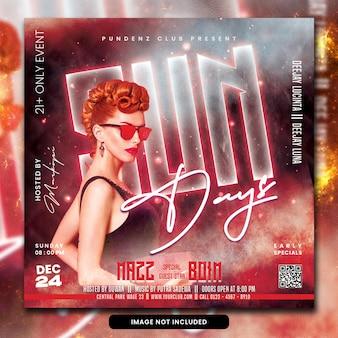Club dj party flyer psd