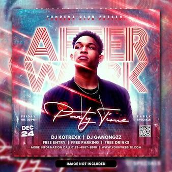 Club dj party flyer social media post psd