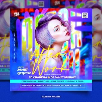 Club dj party flyer social media post