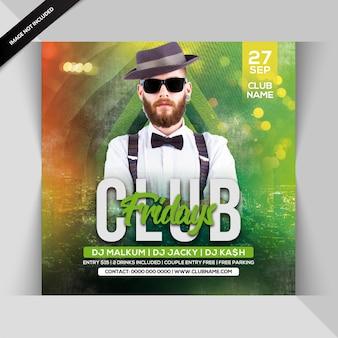 Club freitag party flyer