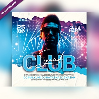 Club klingt party flyer