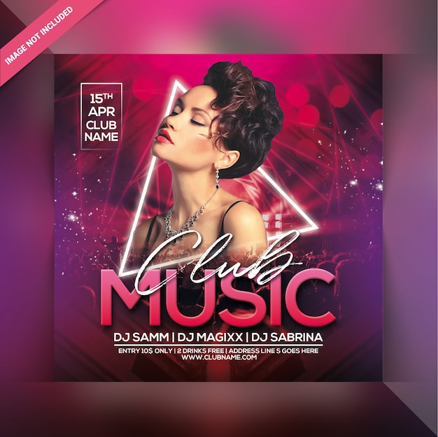 Club musik party flyer