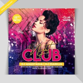 Club nacht party banner vorlage