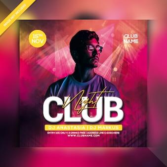 Club nacht party flyer