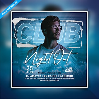 Club night out party flyer vorlage