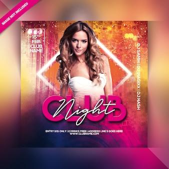 Club night party flyer