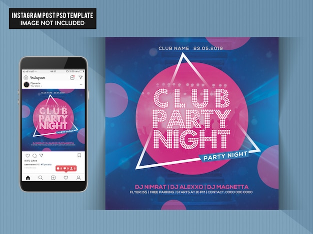 Club party nacht flyer