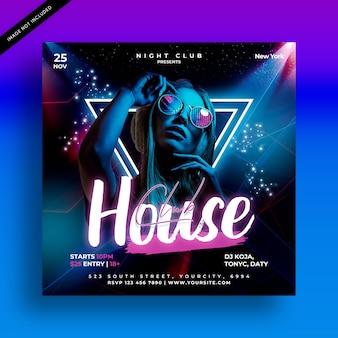 Clubhaus party flyer vorlage