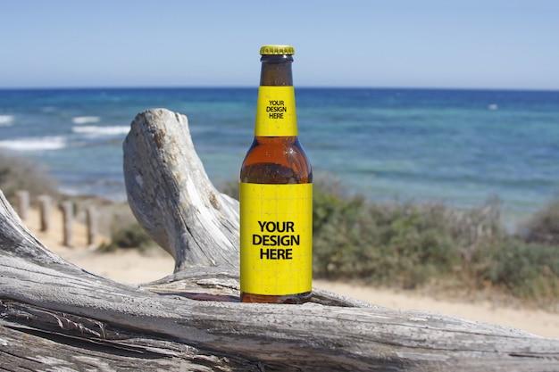 Coastal walk beer mockup
