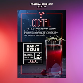 Cocktail-konzeptplakatschablone