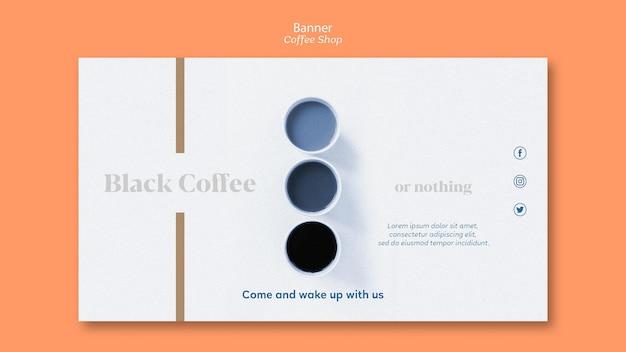 Coffee shop banner vorlage