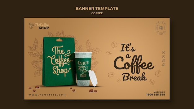 Coffee shop banner vorlage