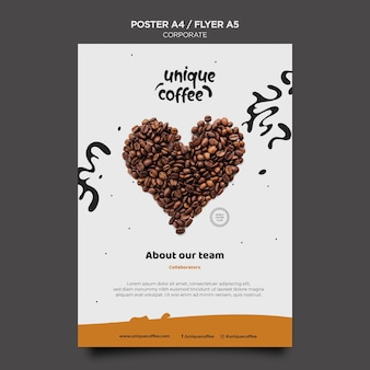 Coffee shop flyer vorlage