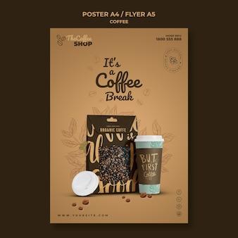 Coffee shop flyer vorlage