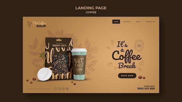 Coffee shop landing page vorlage