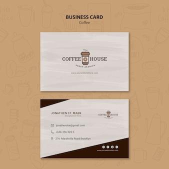 Coffee shop visitenkartenvorlage