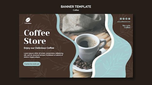 Coffee store banner vorlage