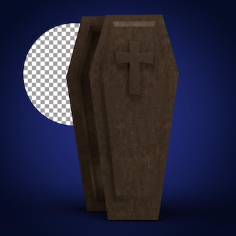 Cofiin 3d-rendering