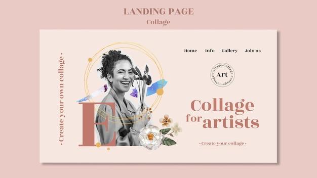 Collage für künstler landing page vorlage