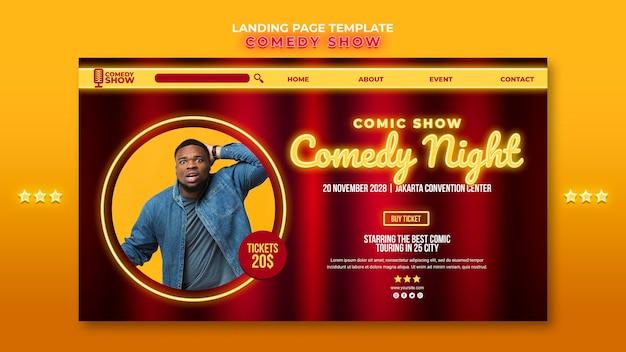 Comedy show landing page vorlage