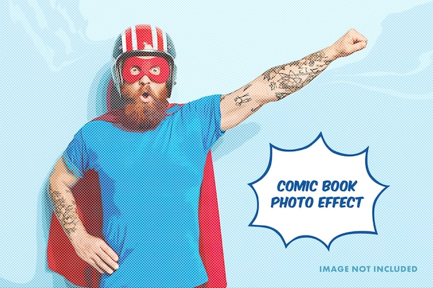Comic-foto-gravur-effekt-vorlage