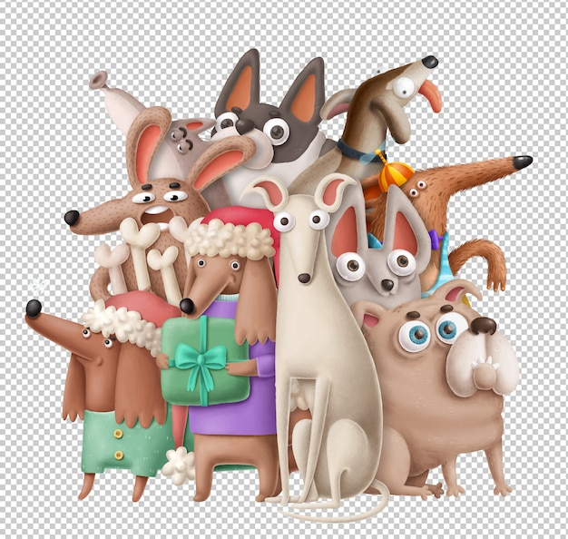 Comic-hunde