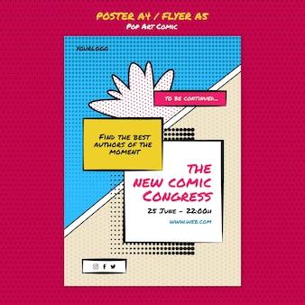 Comic-kongress druckvorlage