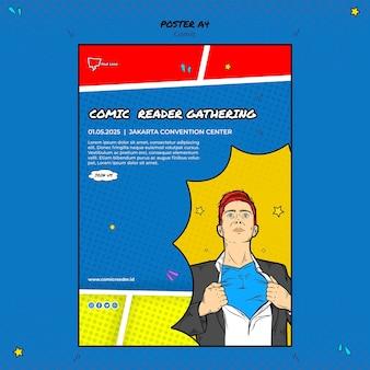 Comic-plakatvorlage
