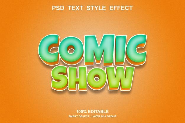 Comic-show text-effekt bearbeitbar
