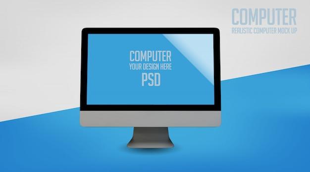Computer mock up premium psd
