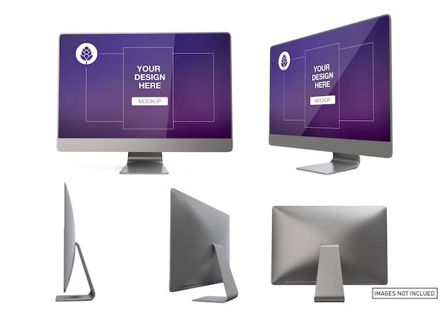 Computer-mockup-ansichten