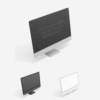 Computer-perspektivische ansicht mock-up