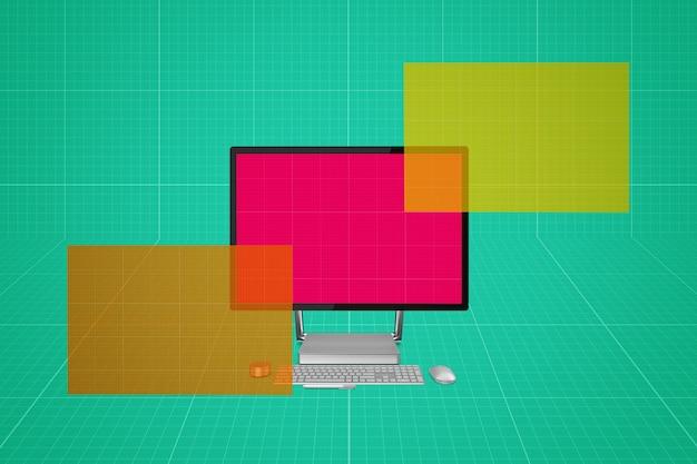 Computerbildschirm-modell