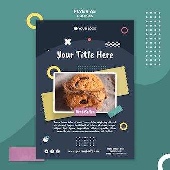 Cookie shop flyer vorlage
