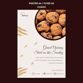 Cookies speichern flyer vorlage