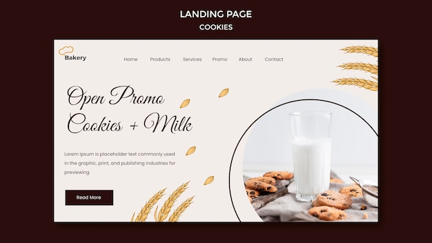 Cookies speichern landingpage-vorlage